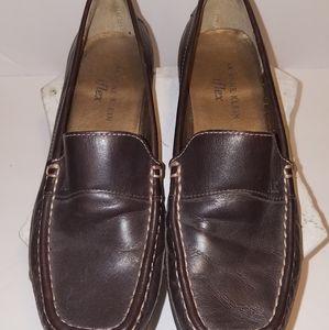 Anne Klein iflex Brown Leather Loafers 6M